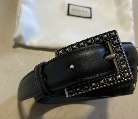 New $750 Gucci Mens Genuine Leather Belt Black 100/40 Italy