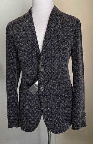 NWT $2895 Giorgio Armani Mens Sport Coat Jacket Blazer Black/Gray 46 US/56R Eu