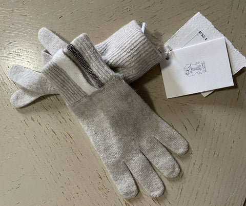 NWT Brunello Cucinelli Girl's Cashmere Gloves Ivory Size 6 Italy
