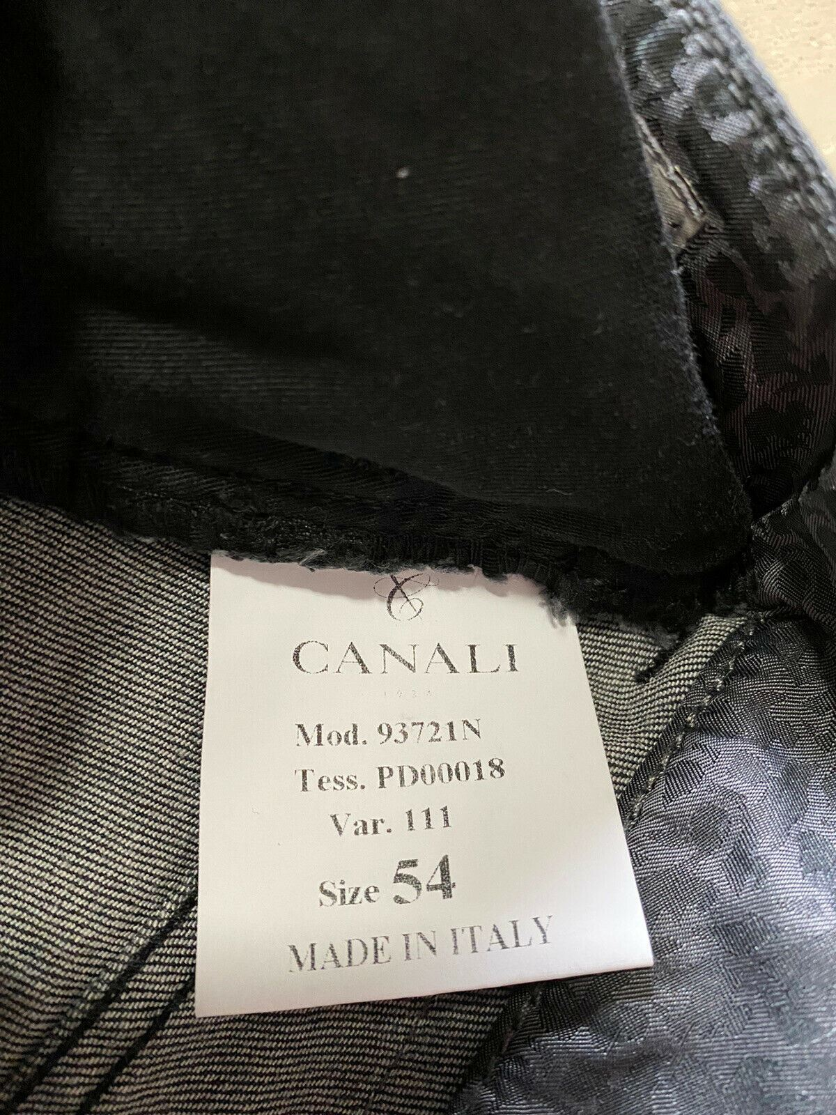 NWT $355 Canali Men's Slim Fit Jeans Pents Black 38 US ( 54 Euro ) Italy