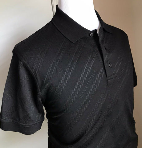 NWT $520 Givenchy Men's Diagonal Chain Jacquard Polo Shirt Black M Italy