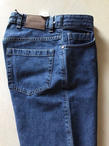 New $595 Ermenegildo Zegna Jeans Pants Blue 40 US ( 58 Eur ) - BAYSUPERSTORE