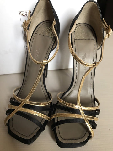 New $630 Versace Collection Women's Shoes Black 9 US ( 39 Eur ) Spain - BAYSUPERSTORE