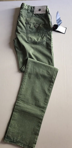 New $445 Armani Jeans Men's  Jeans Pants Green 32 US ( 48 Eur )
