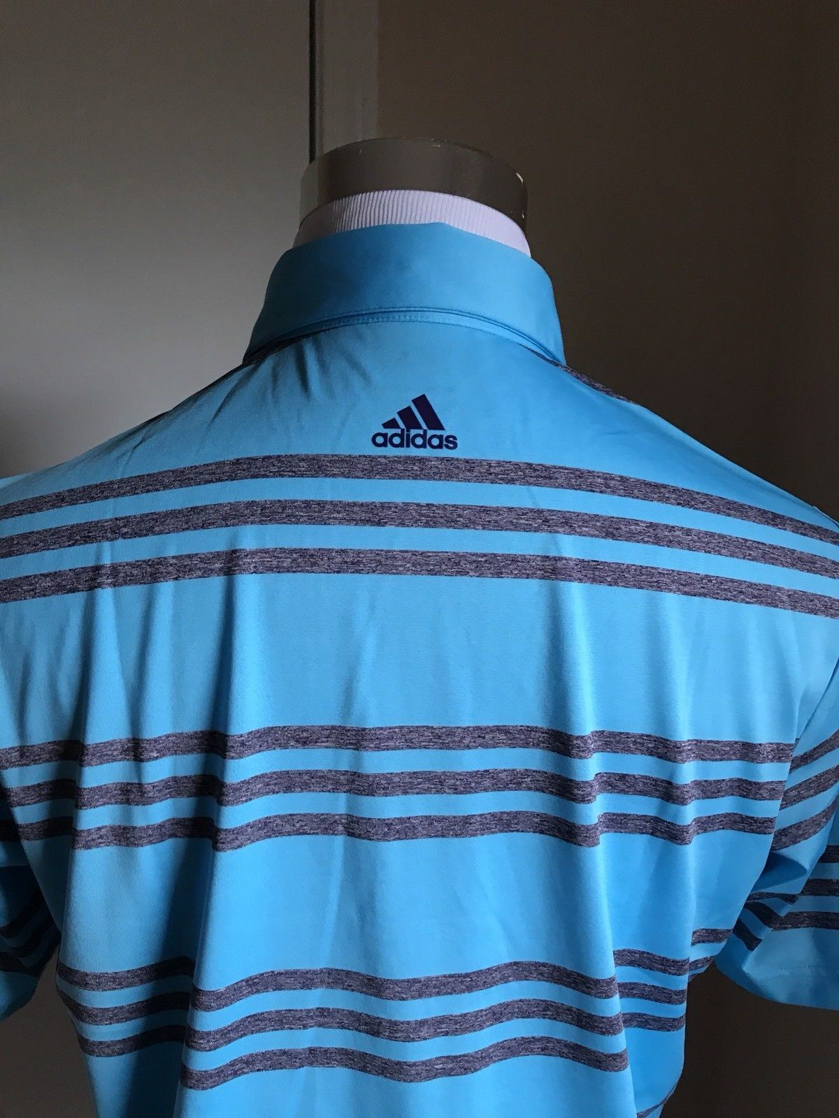New $60 adidas Men's Short Sleeve Shirt MD Blue Size M - BAYSUPERSTORE