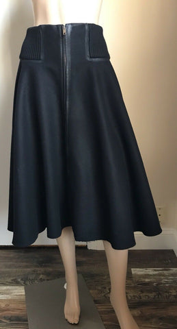 Prada Skirt Black Size 46 Eu ( US 16 ) NWT $1850 Made In Italy