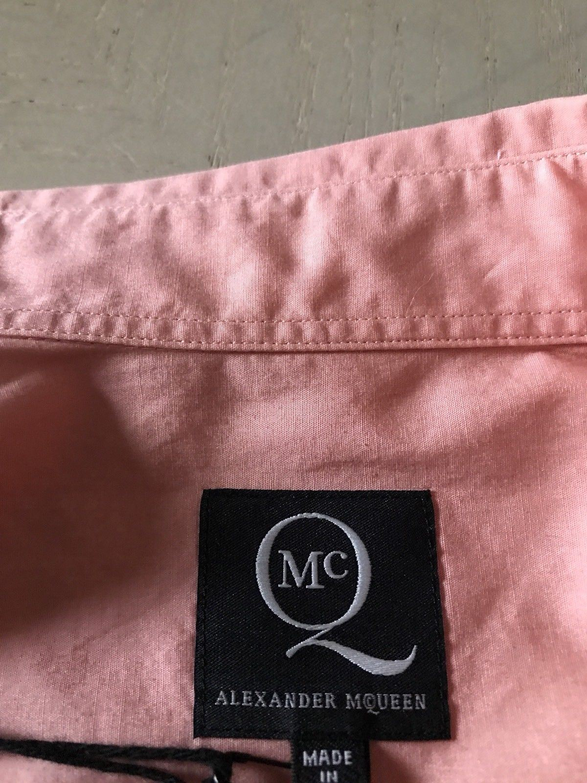 New $280 Alexander McQueen Mens Dress Shirt Pink /Black Size US M ( 48 Ita ) - BAYSUPERSTORE