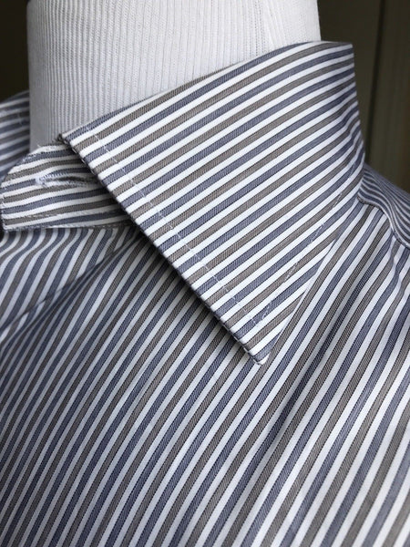 49cb03798e New  280 Canali Dress Shirt Blue Striped Size 39 15.5 Italy – BAYSUPERSTORE