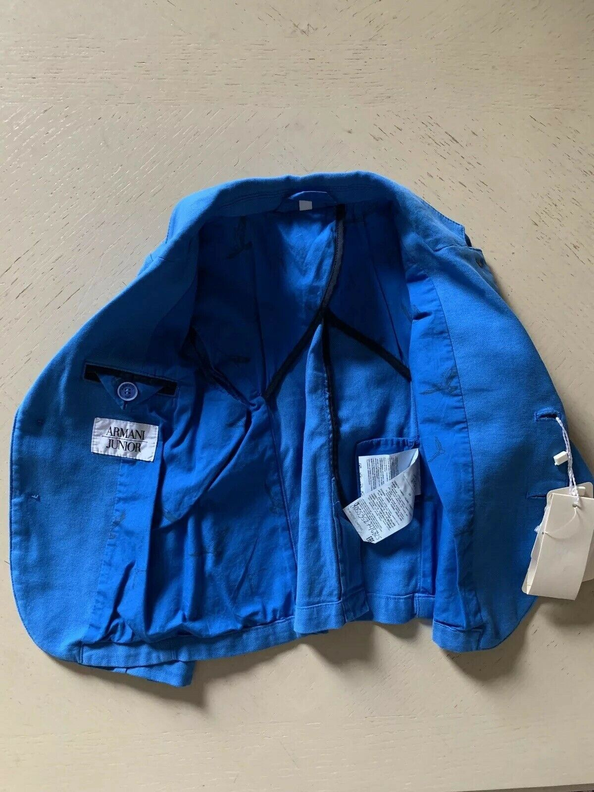 New $360 Armani Junior Boys Jacket Blazer Blue 2Y