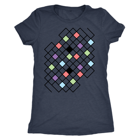 Next Level 'Geometric Pattern' Women's Triblend T-Shirt - BAYSUPERSTORE