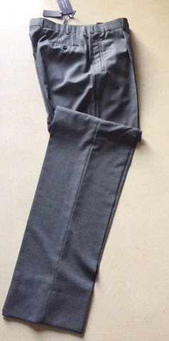 New $1350 Prada Men's Super 140S Wool Pants Gray 32 US ( 48 Eur ) Italy - BAYSUPERSTORE