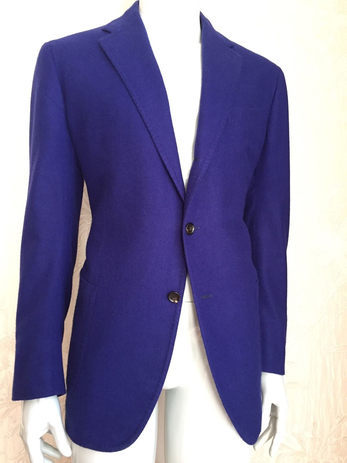 New $5495 Stile Latino Napoli Cashmere Sport Coat Jacket Purple 42 US ( 52 Eur ) - BAYSUPERSTORE