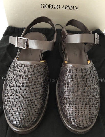 NIB $1125 Giorgio Armani Milano Men's Sandals Brown 10 US X2P054 - BAYSUPERSTORE
