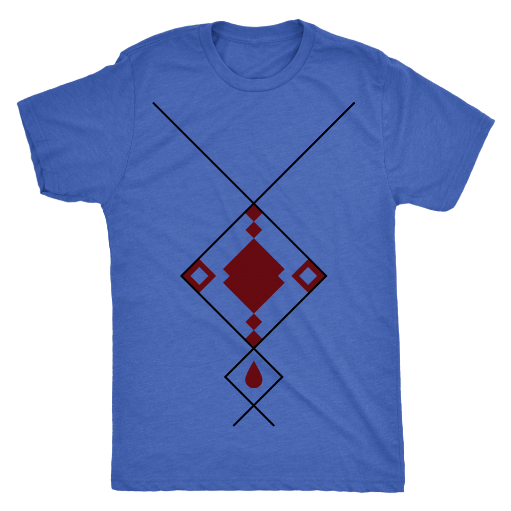 Next Level 'Geo Shaped Necklace' Men's T-shirt - BAYSUPERSTORE