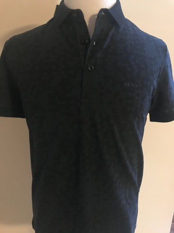 NWT BOSS Hugo Boss 'Paule 3' Green Label Short Sleeve Modern Polo Shirt Medium