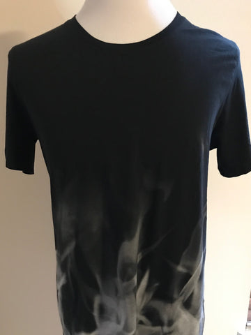 NWT HUGO By Hugo Boss Smoke Short Sleeve Long Graphic Design T-Shirt 100% Cotton
