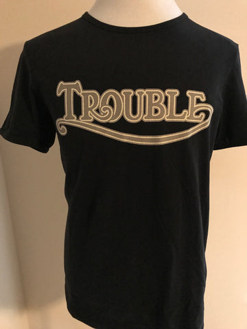 NWT BOSS  TROUBLE Short Sleeve Graphic Design Slim Fit T-Shirt 100% Cotton