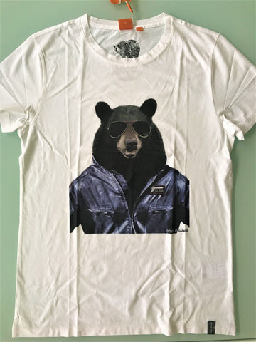 NWT BOSS  BEAR SQUAD Short Sleeve Graphic Design T-Shirt 100% Cotton - BAYSUPERSTORE