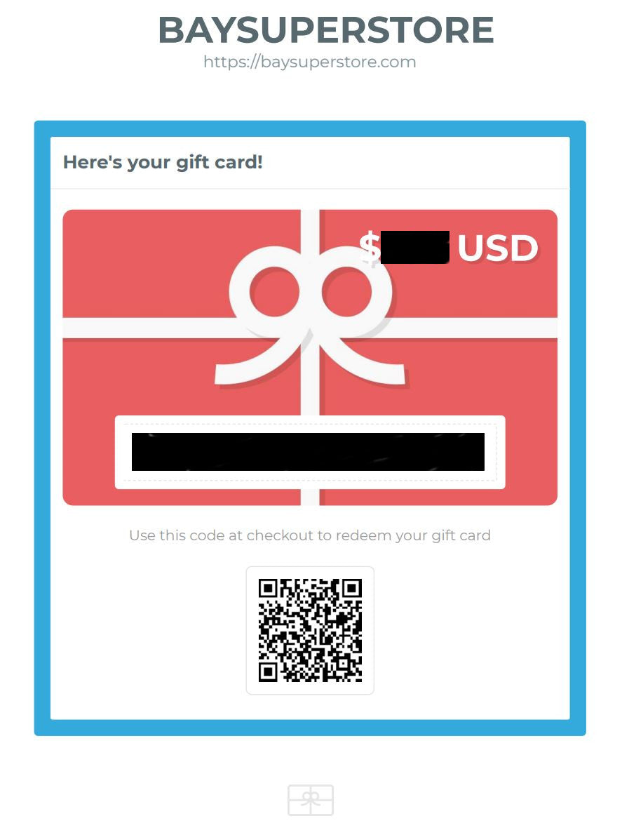 GIFT CARD - BAYSUPERSTORE