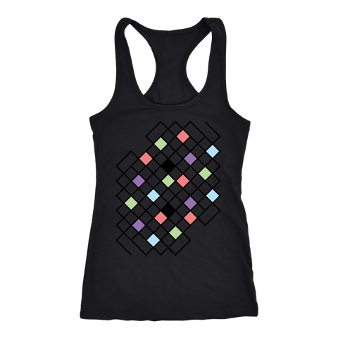 Next Level 'Geometric Pattern' Women's Racerback Tank Top - BAYSUPERSTORE