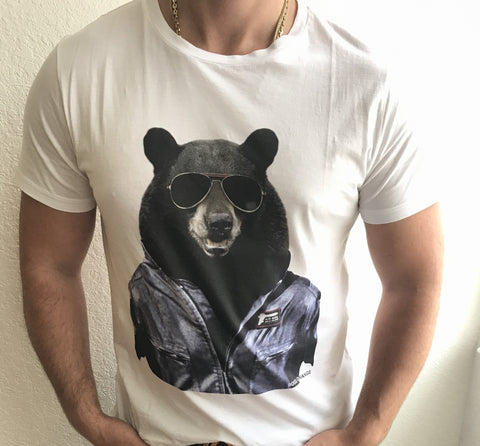 NWT BOSS  BEAR SQUAD Short Sleeve Graphic Design T-Shirt 100% Cotton