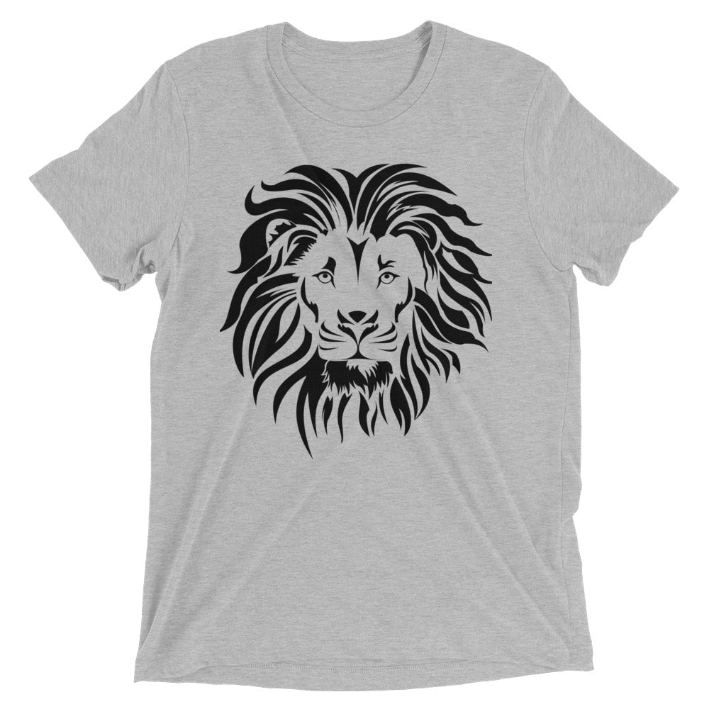 Bella Tri-blend 'Lion' Men's Short Sleeve T-shirt - BAYSUPERSTORE