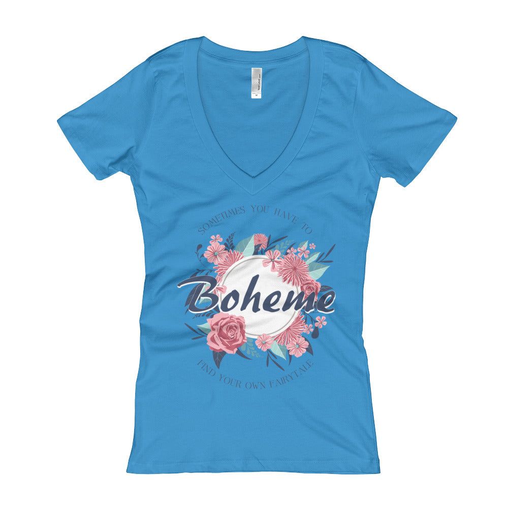 Next Level ''Boheme' Women's V-Neck T-shirt - BAYSUPERSTORE