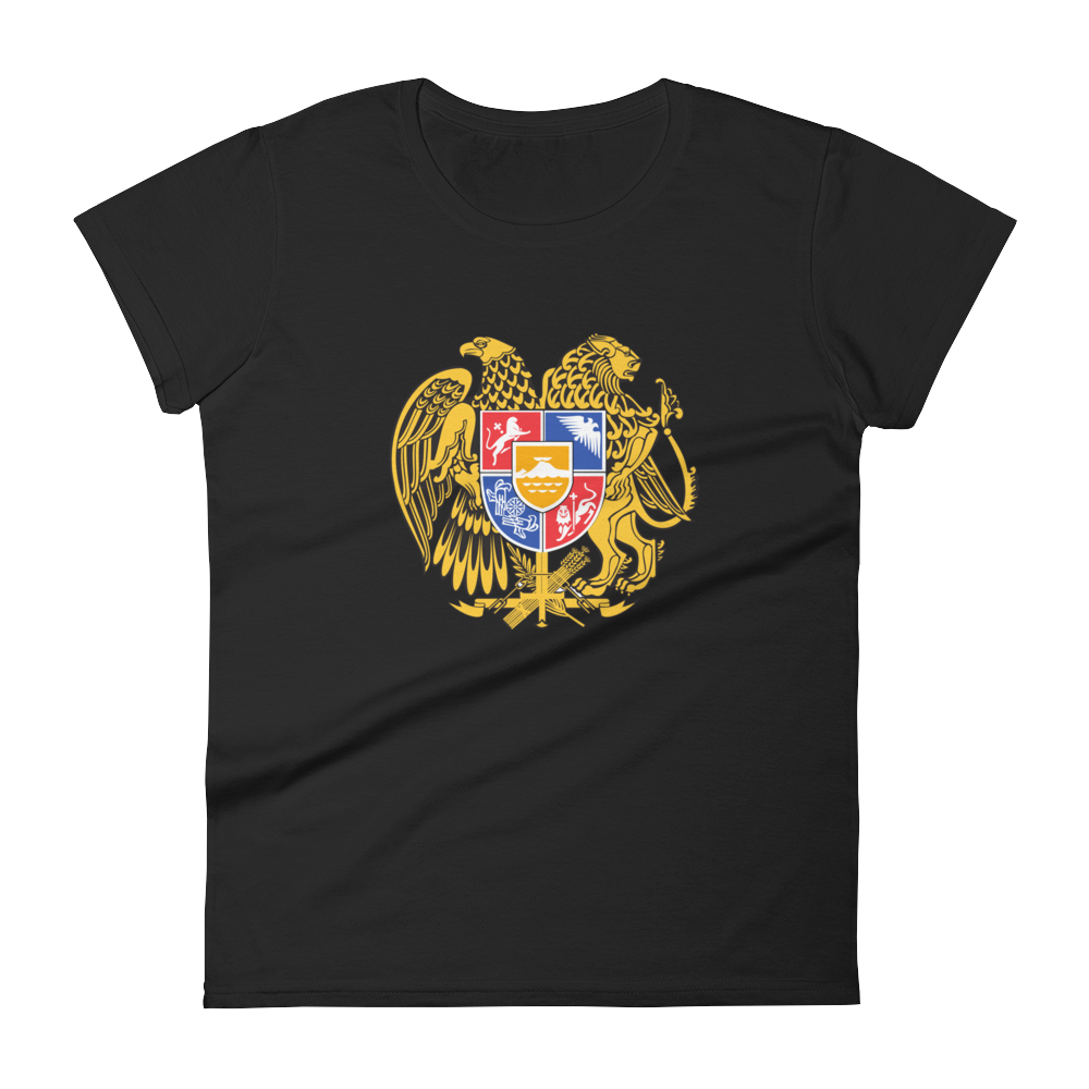 Anvil Women Fashion Fit Armenian Coat of Arms T-Shirt - BAYSUPERSTORE