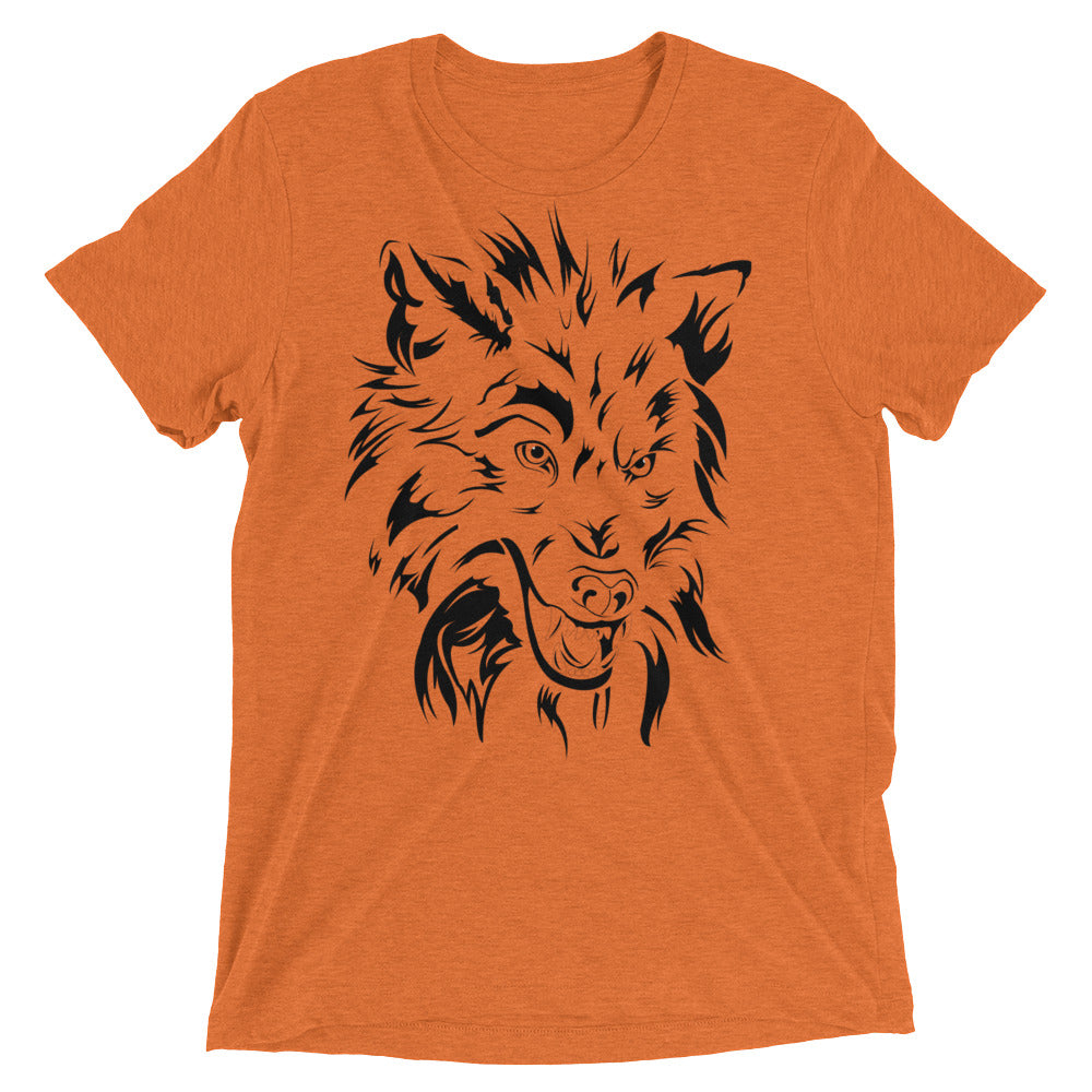 Bella Tri-blend Limited Addition ' WOLF' Short Sleeve T-Shirt - BAYSUPERSTORE