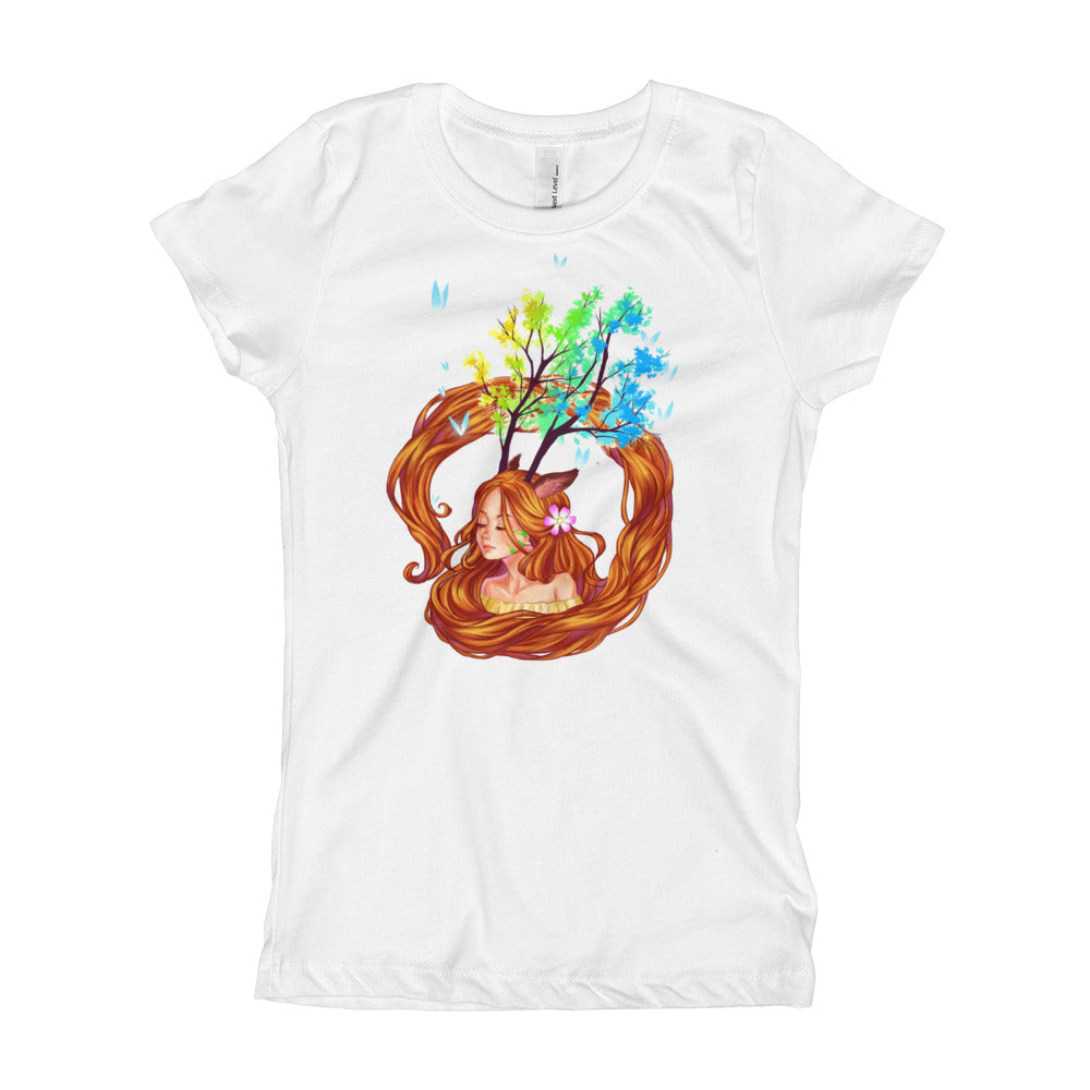 Next Level 'Anime Deer Girl' Girl's T-Shirt - BAYSUPERSTORE