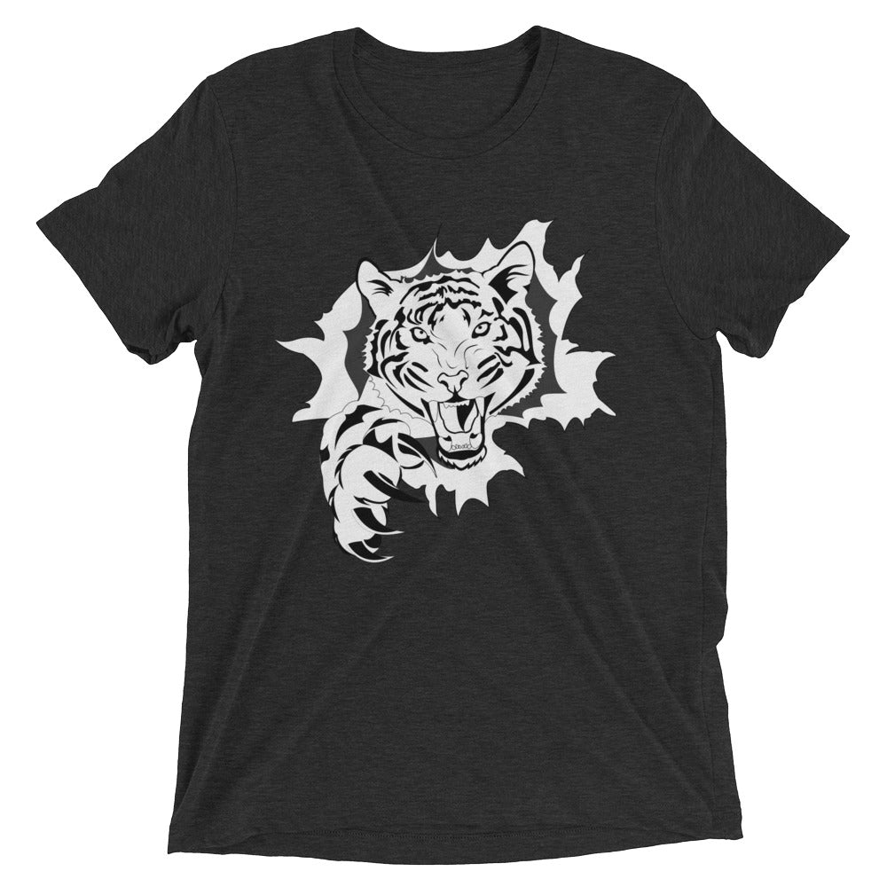 Bella Tri-blend 'Tiger Breakthrough' Men's Short Sleeve T-Shirt - BAYSUPERSTORE