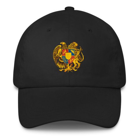 Armenian Coat of Arms Emblem Classic Cap  100% Cotton - Made in USA
