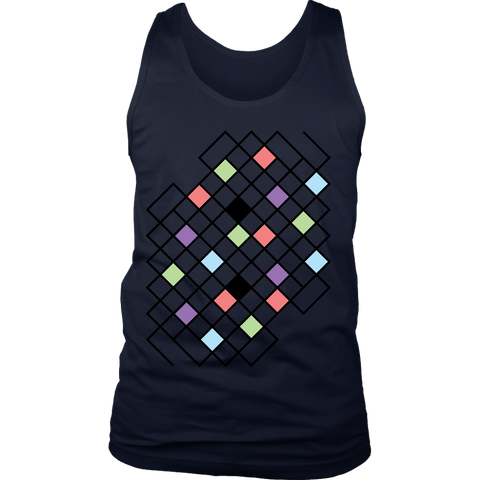 District 'Geometric Pattern' Men's Tank Top - BAYSUPERSTORE