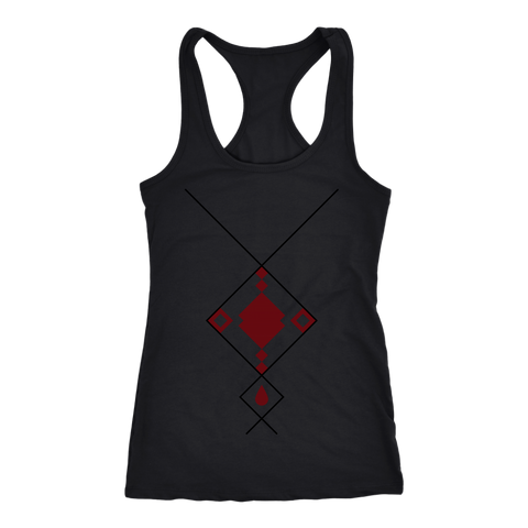 Next Level 'Geo Shaped Necklace' Women's Tank Top - BAYSUPERSTORE