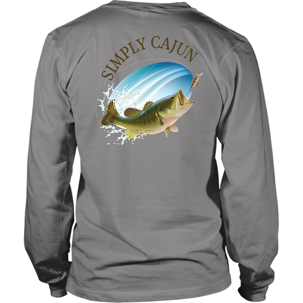 Simply Cajun Bass Fishing - Long Sleeve Tee