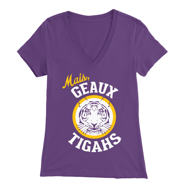 Mais Geaux Tigahs - Bella Women's V-Neck