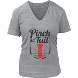 Pinch Da Tail, Red - Women's V-Neck