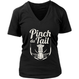 Pinch Da Tail, White - Women's V-Neck