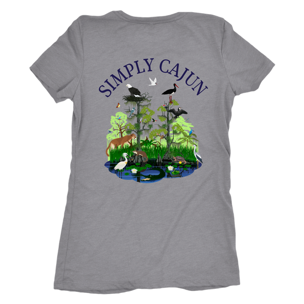 Simply Cajun Swamp Scene- Next Level Women's Triblend Tee