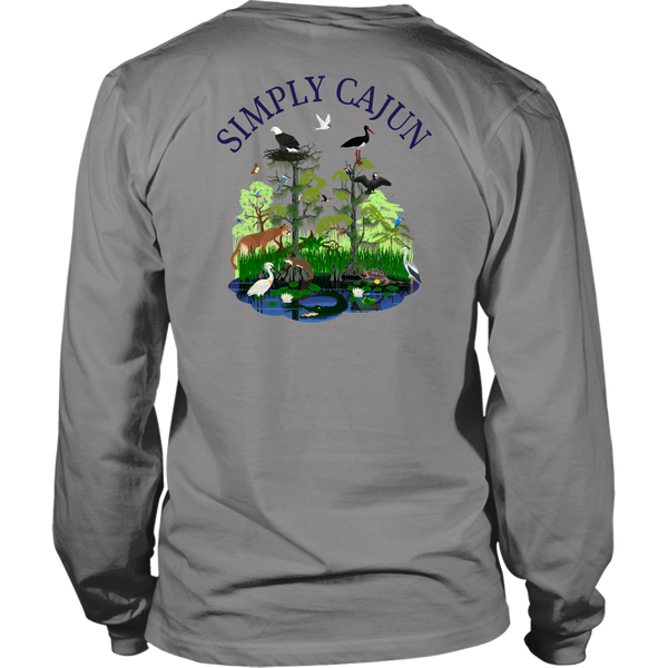 Simply Cajun Swamp Scene - Long Sleeve Tee