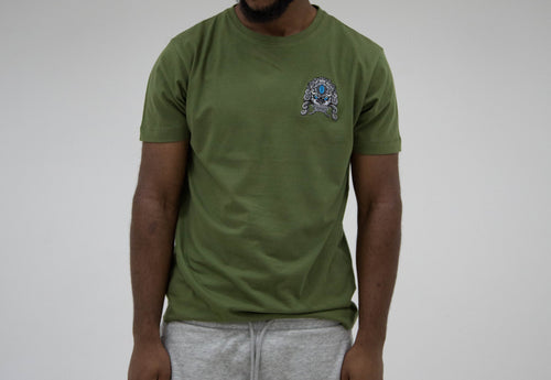 Haych Forest Green Guardian Lion Embroidered T-Shirt