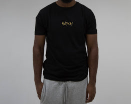 Haych Classic Embroidered Black T-shirt