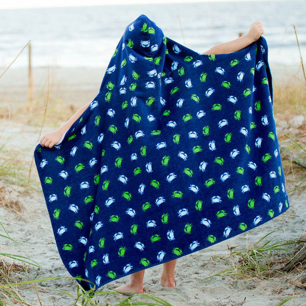 Gettin' Crabby Kids Hooded Towel with Embroidery