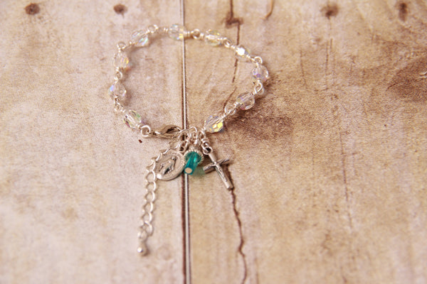 Child Rosary Bracelet with Birthstone