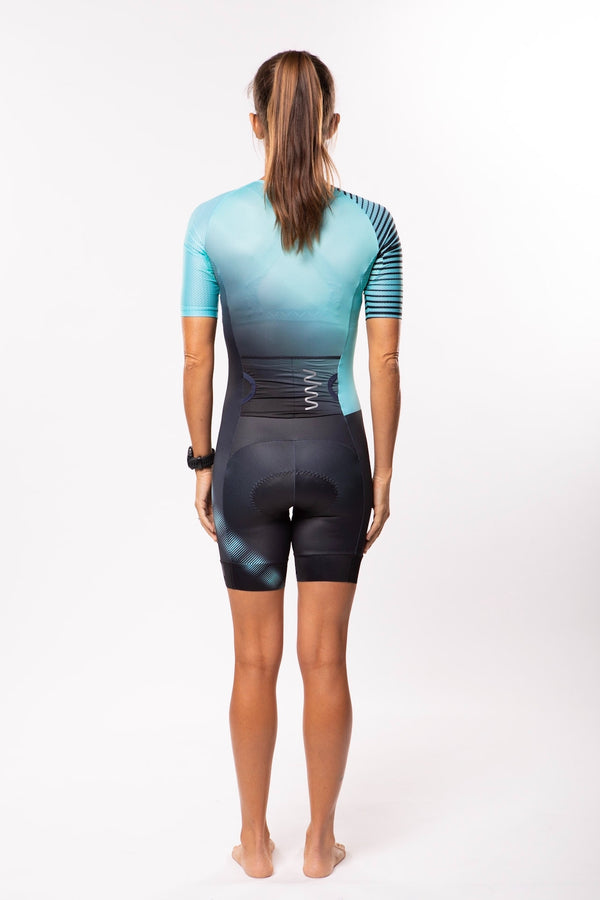 women's neptune aero+sleeved tri suit 2.5 - moonlight *FINAL SALE