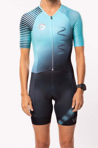 women's neptune aero+sleeved tri suit 2.5 - moonlight