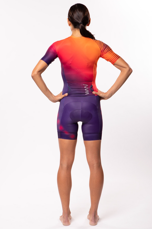 women's neptune aero+sleeved tri suit 2.5 - beacon *FINAL SALE