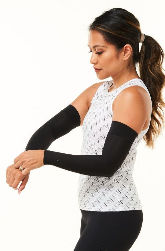 women's arm warmers - black