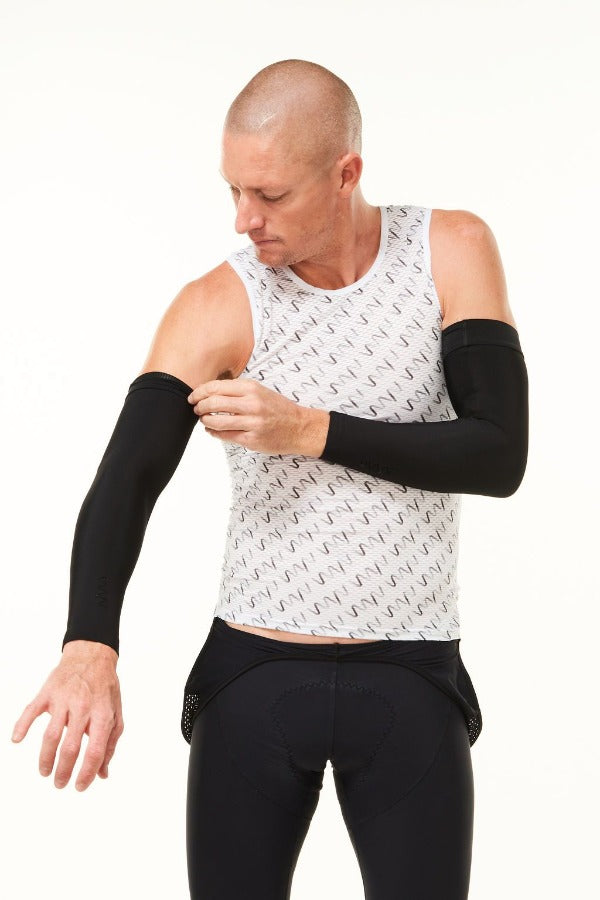 men's arm warmers - black