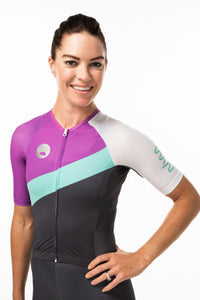 women's soglia aero+sleeved tri suit 2.5 - amalfi